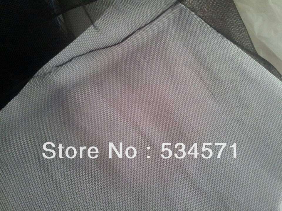 Factory 10yds Clothes diy soft ivory/ black Transparent mesh cloth lace thin gauze wedding dress veil princess dress lace fabric(China (Mainland))
