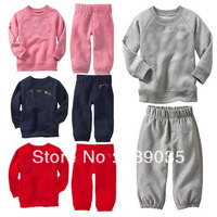 S213 Retail 4 colors brand baby children's long sleeve clothing set Hoodies coat +pants boy/ girl kids sport suit spring autumn