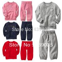 S213 Retail 4 colors brand baby children's long sleeve clothing set Hoodies coat +pants boy/ girl kids sport suit spring autumn