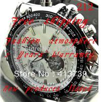 2014  212  Men and Women set auger three-eyed steel band quartz watch Shock Resistant Water Resistant