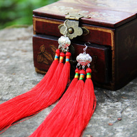 Free shipping Female accessories accessories safe lock long tassel exaggerated earrings