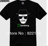 Breaking Bad  diy shirts men's Fashion band short  t-shirt printing, round neck 100% Cotton.cusotm shirt