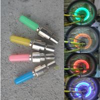 10pcs 2014 New Arrival  Car Bike Tire Wheel Valve Cap Flash LED Bicycle Motor Light Glow Stick 4 color Wholesale