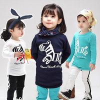 Wholesale New Children's T-shirt Baby boy girl's long sleeves T shirts Children's Clothing cartoon Zebra t-shirt BGT-335-C