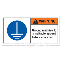 Safety signs in English labels for exporting equipment grounding marking machine should be