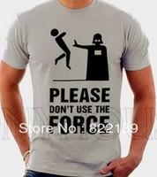 DONT USE THE FORCE STAR WARS diy shirts men's Fashion band short  t-shirt printing, round neck 100% Cotton.cusotm shirt 1401143