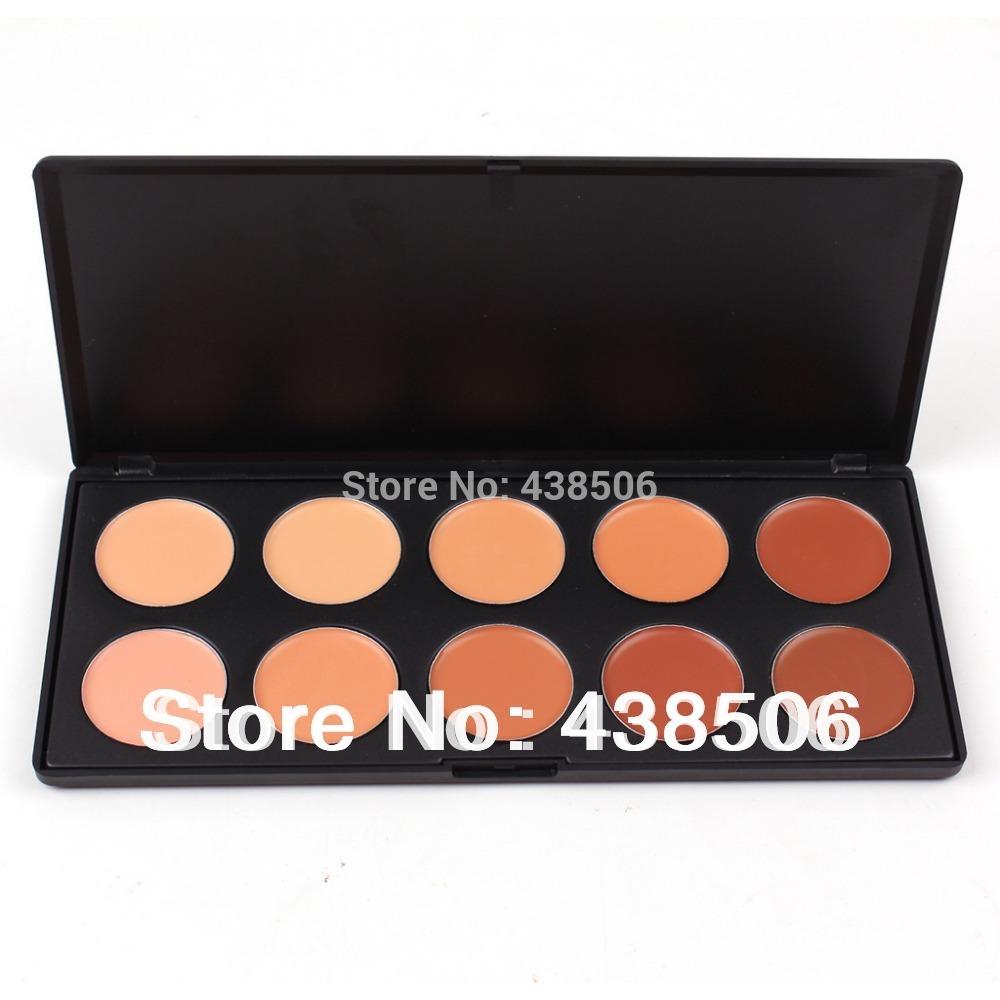 10 colors makeup face care primer Concealer Foundation palette cream lip primer Concealer palette free shipping(China (Mainland))