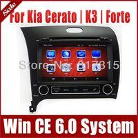 In Dash Car DVD Player GPS Navigation for Kia Cerato K3 Forte 2013 with Navigator Radio TV SD USB AUX RDS Map Sat Nav Multimedia