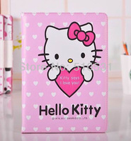 Popular Cartoon PU Leather Book Cover Smart Case for iPad Air iPad5,Sleep/wake up,with stand,5pcs/lot