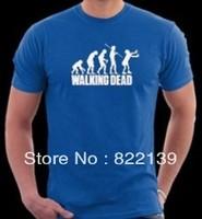 The Walking Dead zombie run men diy shirts men's Fashion band short  t-shirt printing, round neck 100% Cotton.cusotm shirt