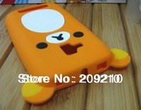 New Cartoon Rilakkuma Lazy Bear Soft Back Case for Nokia Lumia 610 Lumia610, With Retail Package,1pcs/lot