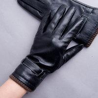 Yaoyao winter sheepskin genuine leather gloves women's autumn and winter thermal gloves wool gloves plus velvet overlock 8606