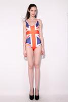 New Fashion 2014 Hot  National flag pattern Swimsuit Suit Bikini Swimwear British flag Swimsuit  Free Shipping