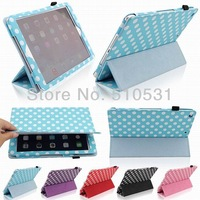 Fashion PU Leather Smart Cover Book Case for iPad Air iPad5,Sleep/wake up function,with stand,retail and wholesale