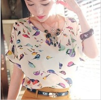 Women's Clothing Top Fashion Women's Short Sleeve Print T-shirt Hot-selling Women's Shirt