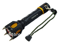 2000 Lumen Led Flashlight Cree XML XM-L T6 Torch Camping Equipment The Lamp Lamps With Rivet Knife Alarm Waterproof
