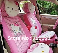 Free Shipping New Style Fashion Hello Kitty Car Seat Covers Universal Full Set On Sale All Seasons Lovely Cartoon Seat Cushion