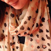 Autumn and winter sweet all-match women's small heart shaped chiffon silk scarf large cape