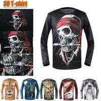 Aliexpress 2013 3d men animal uv protection tshirts