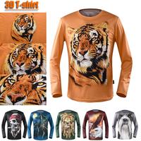 Printing new 3d t-shirt autumn new digital t shirt man