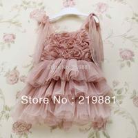 Free shipping ! 2015 summer girl lace  dress , girl flowre dress , 5pcs/lot