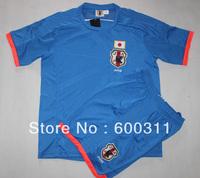 free shipping(12pcs/lot) barsil  world cup 2014  japan white away soccer jersey  with shorts 4#honda 10#kagawa
