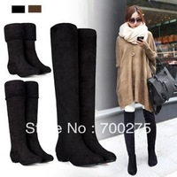 2014 New Autumn And Winter Boots Elastic Knee-Length Long Barreled Boots Women's Shoes