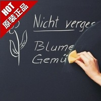 Vinyl Chalkboard Wall Stickers Removable Blackboard Decals Great Gift for Kids 45CMx200CM with 5 Free Chalks 100pcs/lot