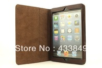 Fashion luxury  LEATHER MINI PAD CASE cover top selling dirty proof,scratches protection