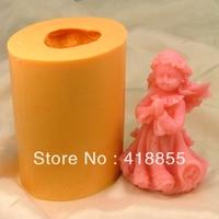 Food grade material silicon soap mold Cake decoration mold Cake mold manual soap mold Little angel NO:SO115