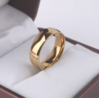 Free shipping Light  version genuine 18K gold plated rings 316L Stainless Steel men women jewelry Free shipping wholesale lots