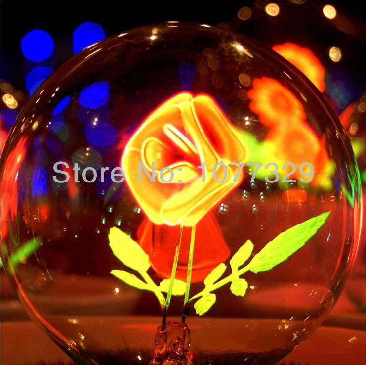 Online kopen wholesale roos bloem lamp uit china roos bloem lamp groothandel - Nacht kamer decoratie ...