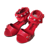 Female child sandals bow 2013 diamond sandals