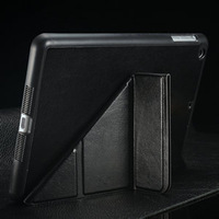 Transformable Leather smart case For iPad mini 2 with 3 Floding Stand function and Strong Magnet Dormancy tablet case free gift