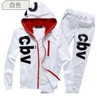 2014 Autumn Korean men's cotton track suit  Tide hooded sweater set  ANZ4X50