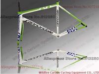 2013 Road Bike White-green-blue supersix evo complete carbon fiber frame,frameset(sans seatpost)+fork+clamp+headset