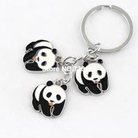 Free shipping pandas chaveiros colorful keyring items wholesale hotsale metal wedding lanyard fashion enamel panda keychain