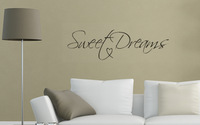 Mix Wholesale Order Modern Wall Sticker Sweet Dreams Vinyl Art Mural Wall Quote Saying decals