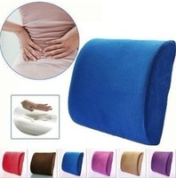 The best price Pillow 16 color for chose Memory Foam Lumbar Back Support Cushion Pillow for Office Home Car Seat Chair