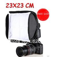 "100% GUARANTEE Mini Softbox 23x23cm For SpeedLight Flash Speedlite 23cm/9"" Soft box 2 Diffusers  WITH BAG"