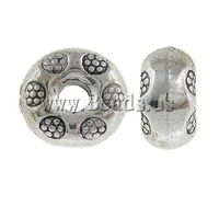 Free shipping!!!Zinc Alloy Jewelry Beads,Sexy Jewelry, Donut, antique silver color plated, nickel, lead & cadmium free, 9x5mm