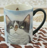 Lang animal artwork classic tea cup ceramic mug