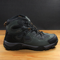 Male high winter cold-proof leather outdoor water-proof and free breathing hiking shoes thermal plus cotton snow boots
