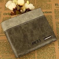Man wallet short design men genuine leather wallet men's cowhide wallets