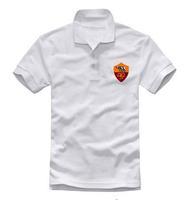 Roma leisure collar short sleeve POLO shirt football European cup polos  series