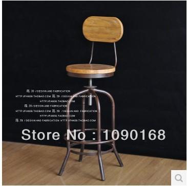 Ferro americano bancos de bar fezes cadeiras de recepção cadeira bar Escritório Bar madeira cadeira giratória(China (Mainland))