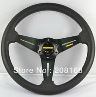 New design Universal M*M* Steering wheel ,Lenkrad,volante,14 inch PU Leather meterial Black