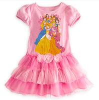 New design children girl dress 100%cotton 5pcs/lot