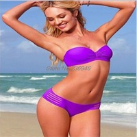 Free Shipping New Arrival 2014 Sexy Satin Vintage Bikini Multicolor Fashion Swimsuit Hot Swimwear Women Size S, M, L
