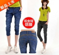 Corner clothing 2013 denim shorts female fashion harem pants loose plus size casual